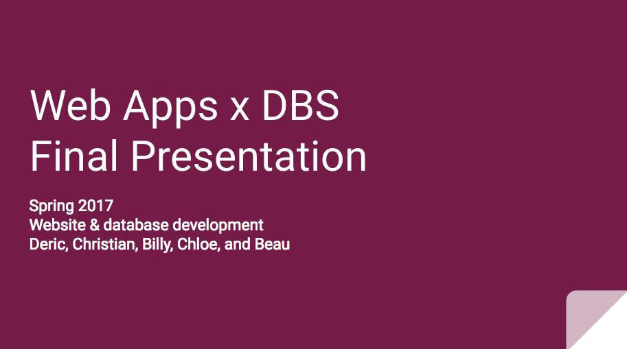 Website & database development